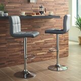 Dorotea Swivel Adjustable Height Bar Stool (Set of 2) by Latitude Run®