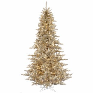 3 champagne fir artificial christmas tree with 100 clear lights