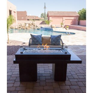 AZ Patio Heaters Two Tiered Steel Propane Fire Pit Table