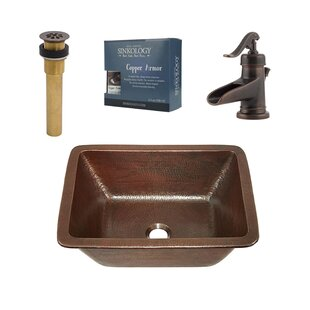 Sinkology Hawking Metal Rectangular Undermount Bathroom Sink with Faucet