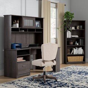 Red Barrel Studio Hillsdale Corner Desk with Hutch and 5 Shelf Bookcase