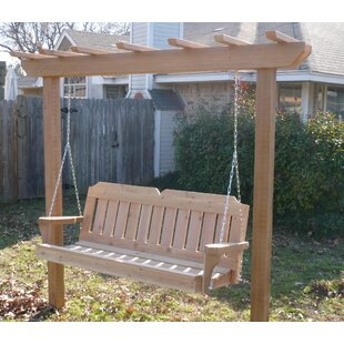 Donath Cedar Arbor Porch Swing with Stand by August Grove