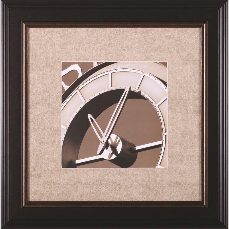 Art Effects Clock Iv By Doug Hall Framed Photographic Print Wayfair