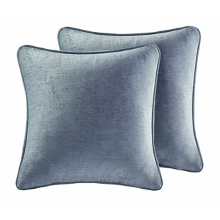 Carlock Luxe Square Chenille Throw Pillow (Set of 2)