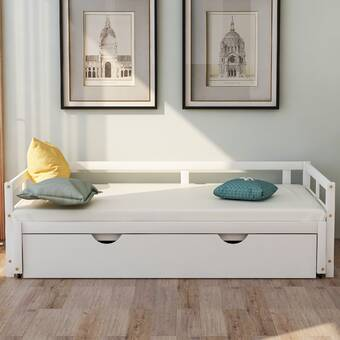 Latitude Run Cenka Twin Solid Wood Daybed With Trundle Wayfair