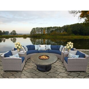 TK Classics Florence 8 Piece Sectional Set with Cushions