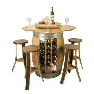 Wine Barrel 5 Piece Dining Set