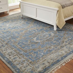Rocha Hand-Knotted Blue Area Rug