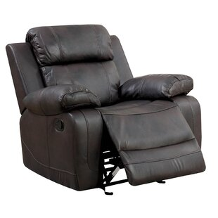 Hargett Leather Glider Recliner Red Barrel Studio
