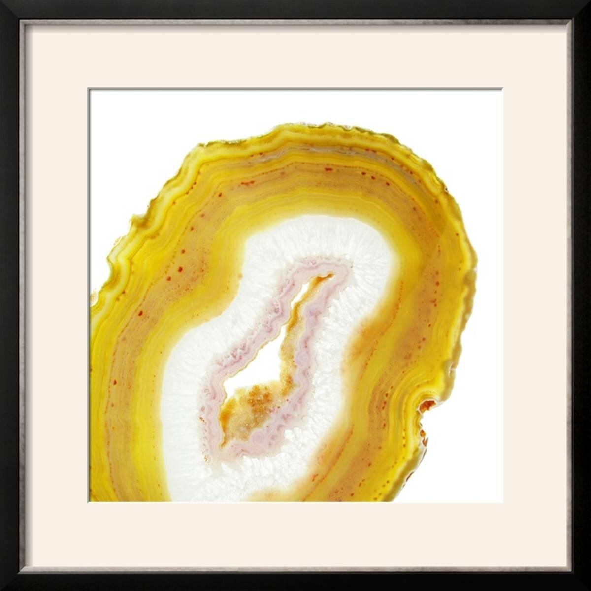 Limoncello Agate A\' Framed Graphic Art Print & Reviews | AllModern