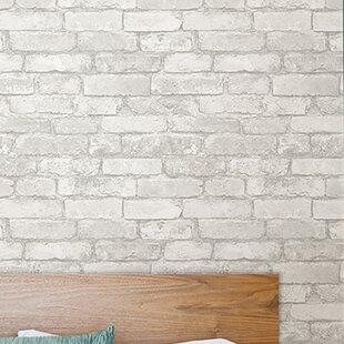 Rouleau De Papier Peint à Peler Et Coller Imitation Briques Grises Et  Blanches 18 Pi X 20,5 Po Wokingham