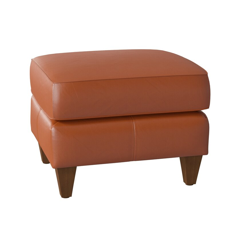 Omnia Leather Skyline 24 Genuine Leather Rectangle Standard Ottoman Wayfair