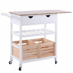 Krause Rolling Kitchen Cart with PVC Top Rebrilliant
