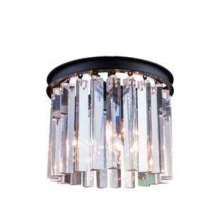 Everly Quinn Lavinia 3-Light Flush Mount