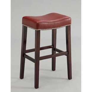 Dao Upholstered Wooden 31 Bar Stool (Set of 2) by Charlton Home