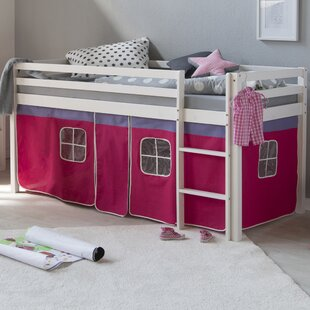 Alta European Single Mid Sleeper Bed With Textile Set By Zoomie Kids