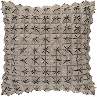 Brayden Studio Ebro Structure 100% Wool Throw Pillow Cover Size: 20 H x 20 W x 1 D, Color: Taupe