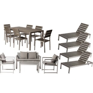 Carrell 15 Piece Conversation Set with Cushion