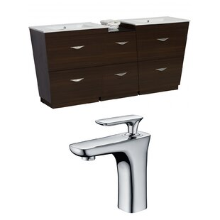 Review Vee 62 Double Bathroom Vanity Set by American Imaginations