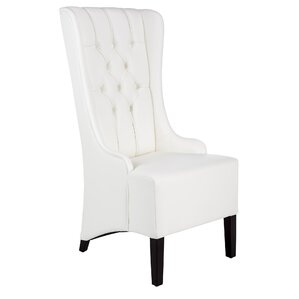 Club Napa Genuine Leather Upholstered Dining Chair