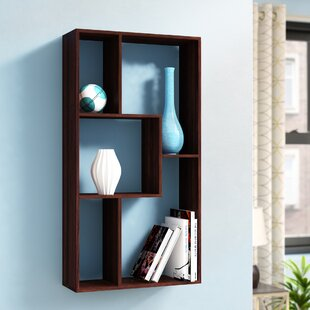 Admer Cube Five Grid Storage Rack Geometric Bookcase by Ebern Designs