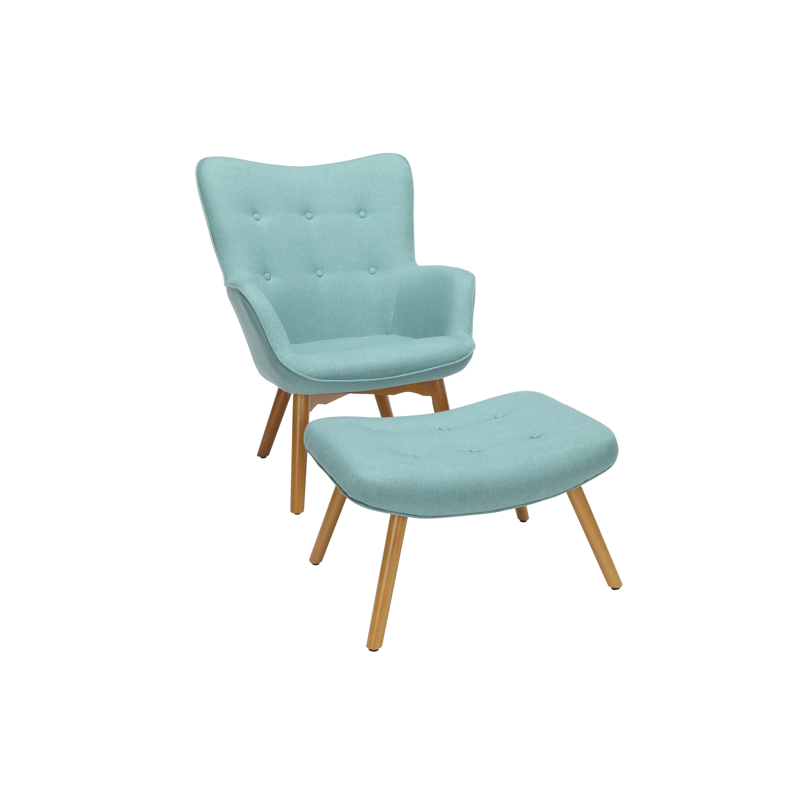 Fabulous Bello Mid Century Modern Lounge Chair And Ottoman Ibusinesslaw Wood Chair Design Ideas Ibusinesslaworg