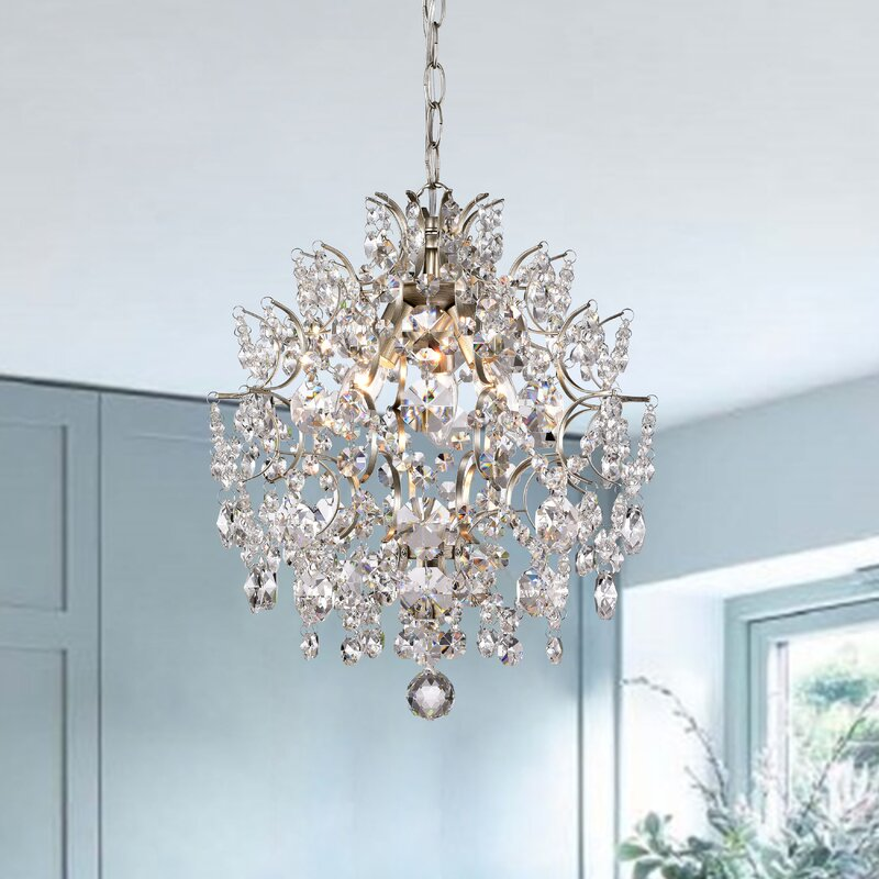 House of Hampton Gillespie 3 - Light Unique Geometric Chandelier with Crystal Accents