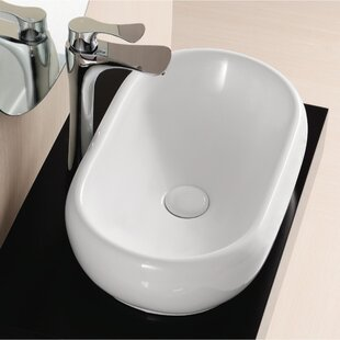 Ceramica II Ceramic Oval Vessel Bathroom Sink Caracalla