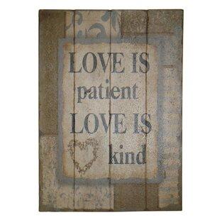 Love Is Patient Love Is Kind | Wayfair