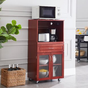 Cornette Cabinet/Microwave Bar Cart by Winston Porter