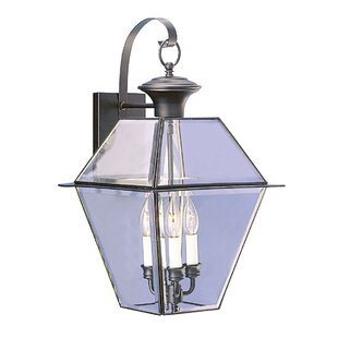 Reviews Orchard Lane 3-Light Outdoor Wall Lantern By Three Posts
