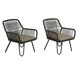 Marli Patio Chair with Cushions (Set of 2)