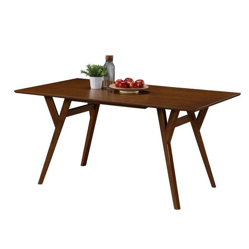 default name. George Oliver Buckleton Rectangular Wood Dining Table   Reviews