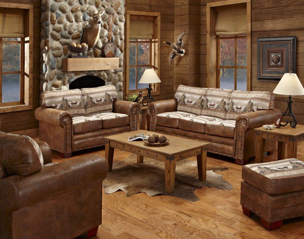 American Furniture Classics Alpine Lodge 4 Piece Living Room Set