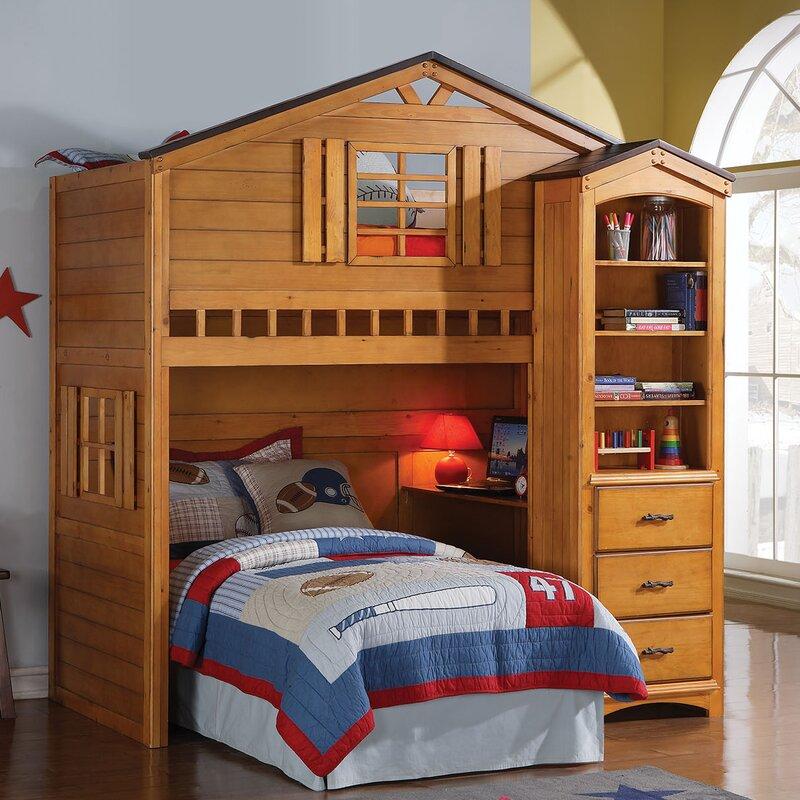 acme furniture tree house loft bed & reviews | wayfair