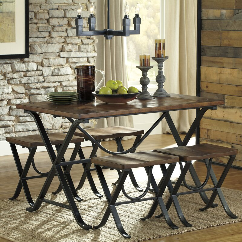 loon peak jaden 5 piece dining set & reviews | wayfair