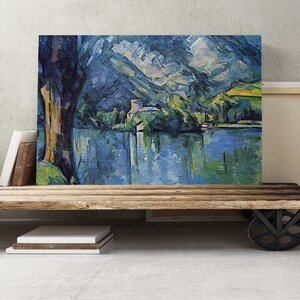 'The Lake Annecy' by Paul Cézanne Painting Print on Canvas