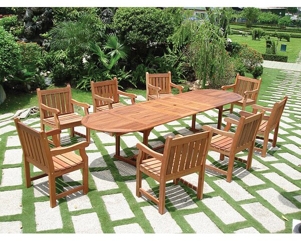 Vifah Vista 9 Piece Dining Set II U0026 Reviews | Wayfair