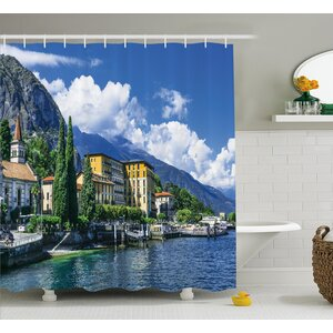 Italy Landscape of Lake Como Shower Curtain East Urban Home