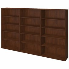 Series C Elite 5 Shelf 66 Oversized Set Bookcase by Bush Business Furniture