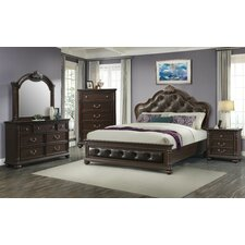 Crescent Upholstered Panel Bed by Astoria Grand