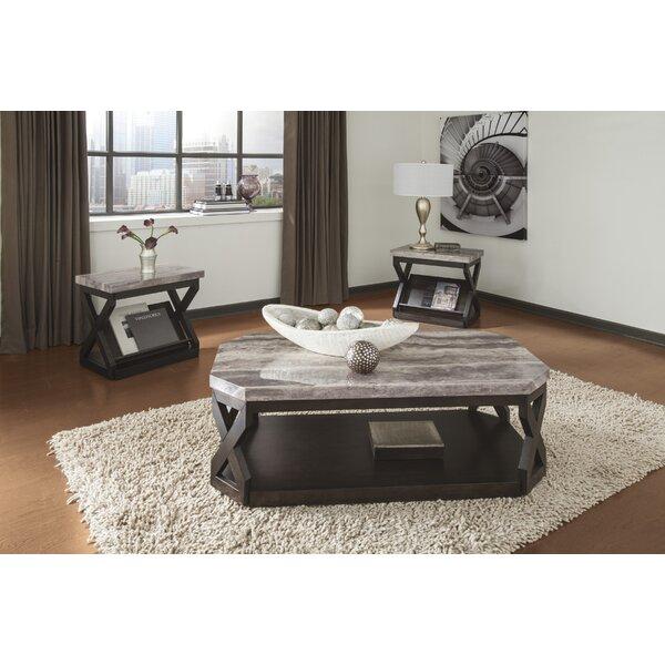 latitude run kelton 3 piece coffee table set & reviews   wayfair