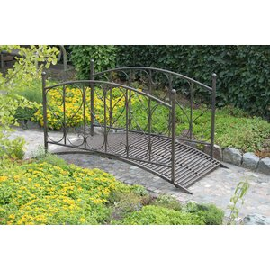 Garden Bridge with Handrail