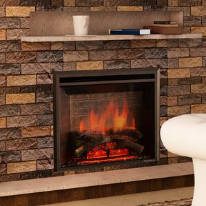 Electric Fireplaces Youu0027ll Love | Wayfair  Fireplace Heater Insert