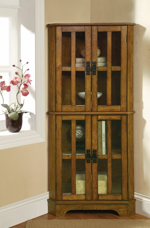 tall corner cabinet   wayfair