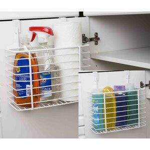 wayfair basics over the cabinet kitchen storage basket. Interior Design Ideas. Home Design Ideas