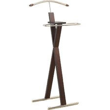 Chrome Metal Bedroom Valet Stand by Monarch Specialties Inc.