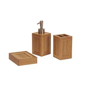 Shaw 3 Piece Bathroom Accessory Set