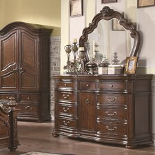 Griton 9 Drawer Dresser with Mirror by Astoria Grand