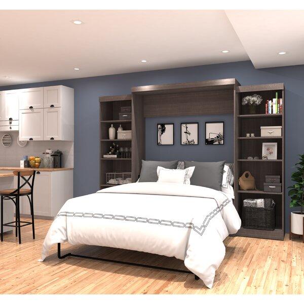 red barrel studio jordan queen storage murphy bed reviews wayfair - Queen Murphy Bed Frame